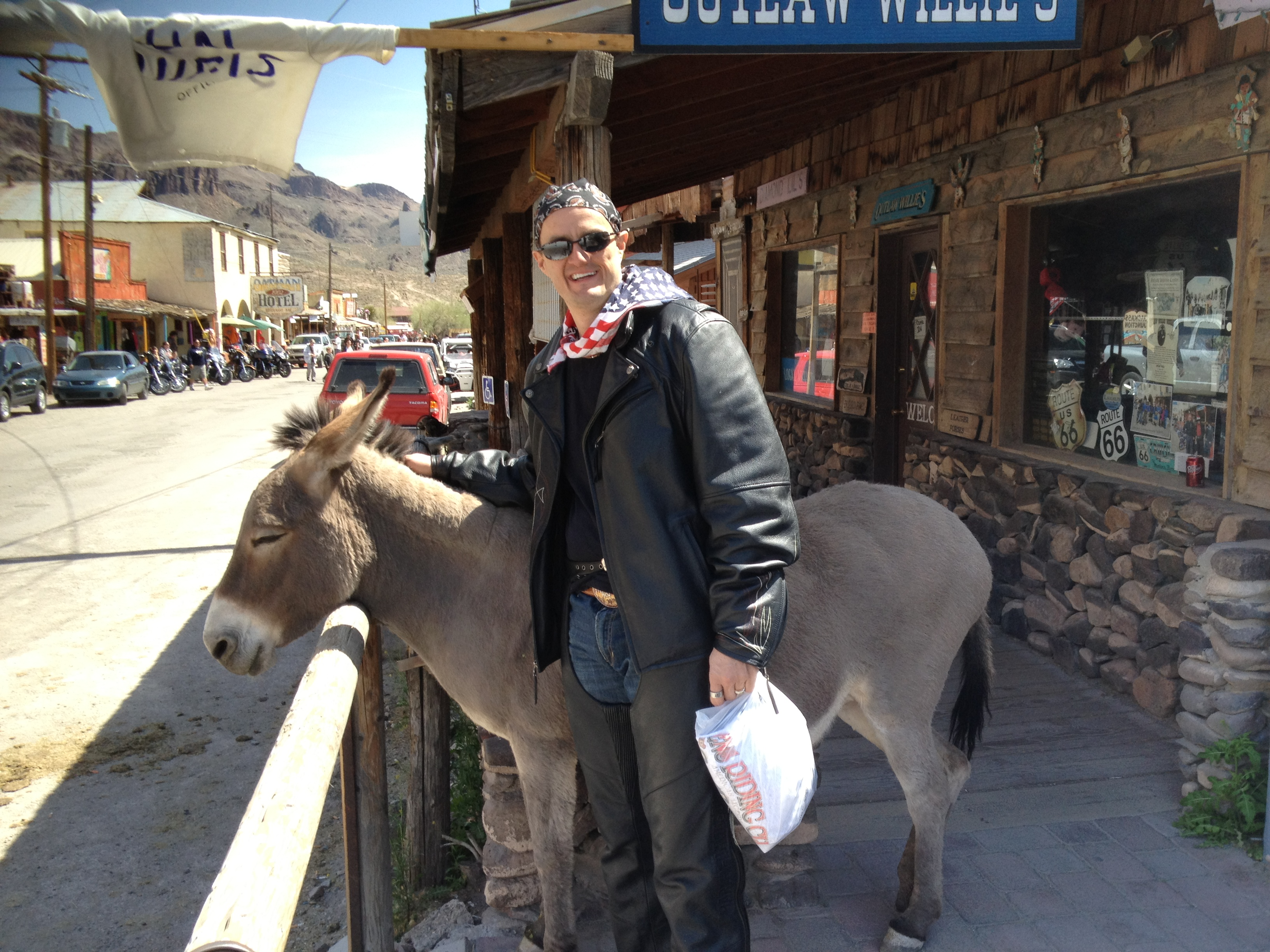 Gary Fales at Oatman, Arizona