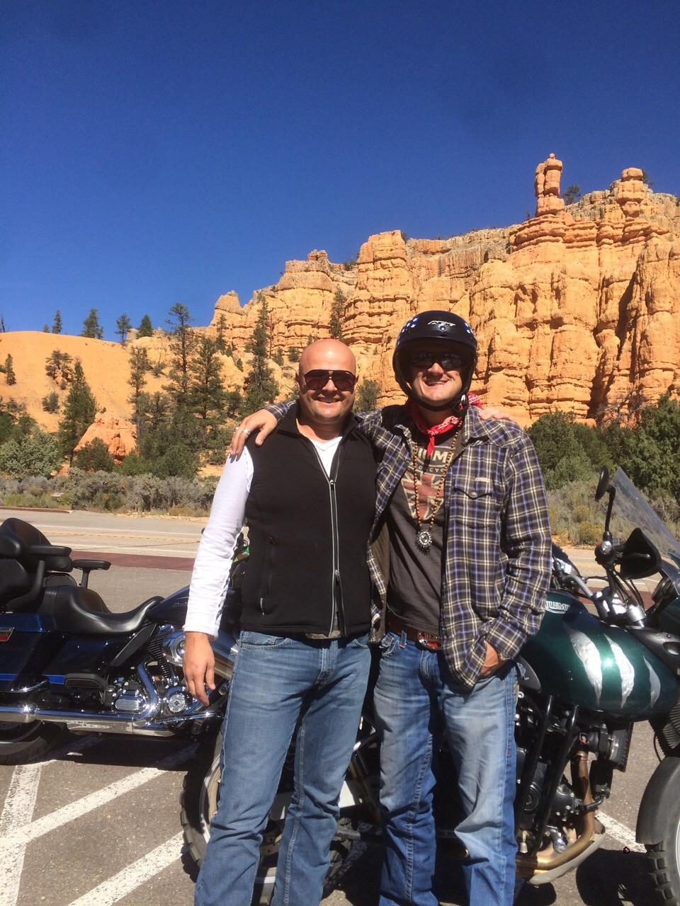 Gary and James Fales at Bryce Canyon National Park