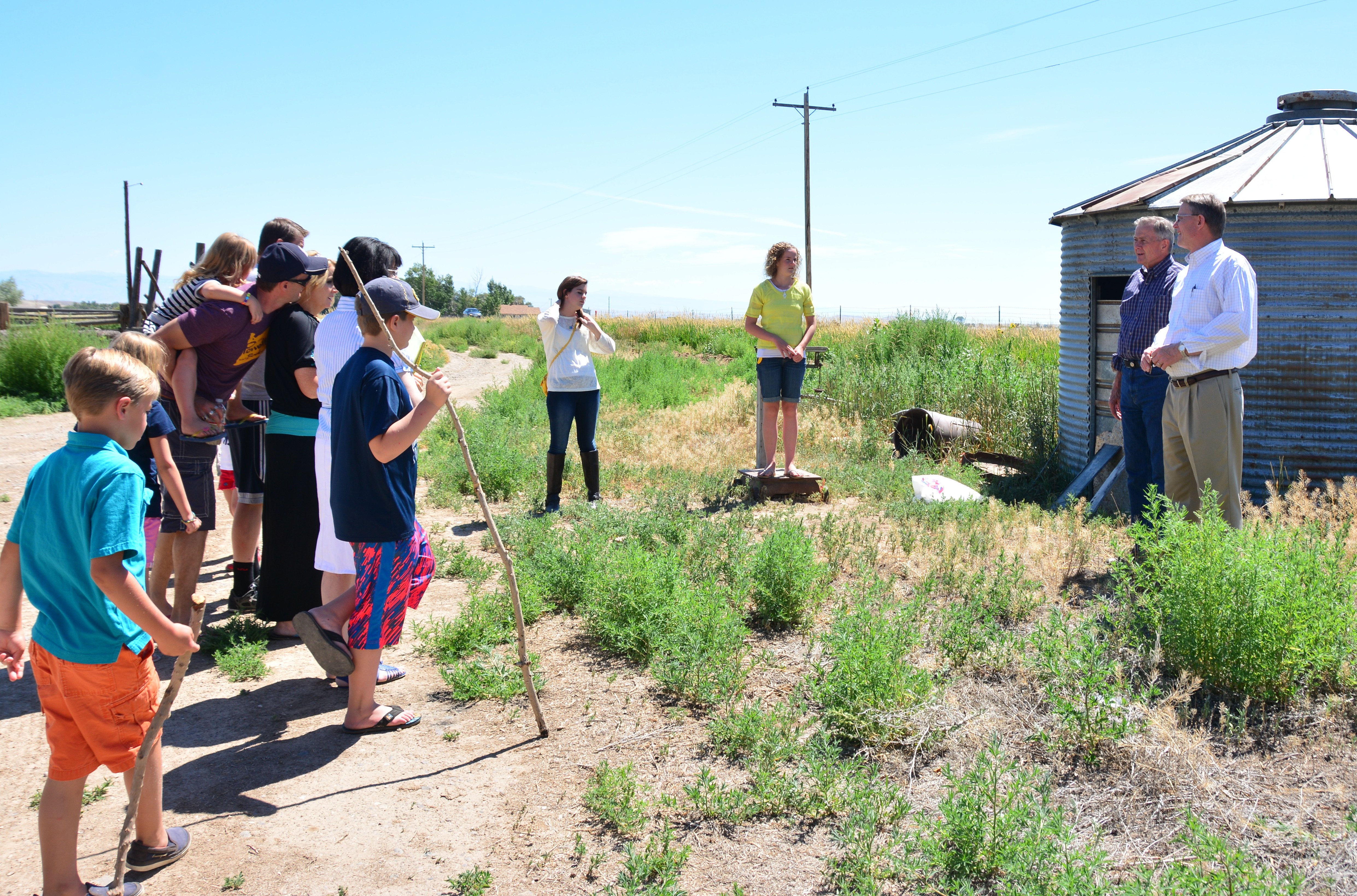 Learning about the old homestead in Wyoming established in the early 1900s
